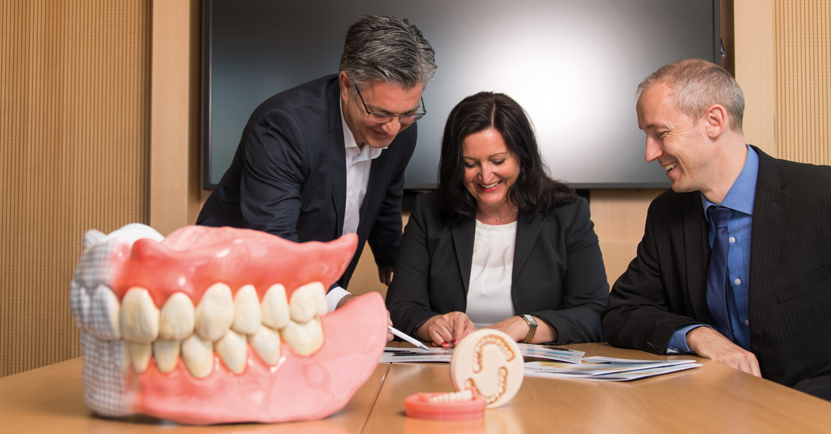 Digital Denture is a complete manufacturing process for the fast, digital manufacturing of removable dentures