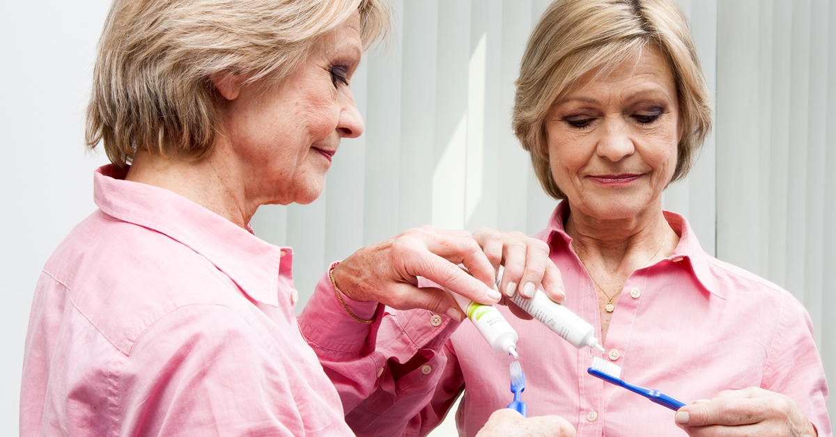 Many seniors suffer from dryness in the mouth (xerostomia). The application of fluoride-containing products is important for protection against caries.