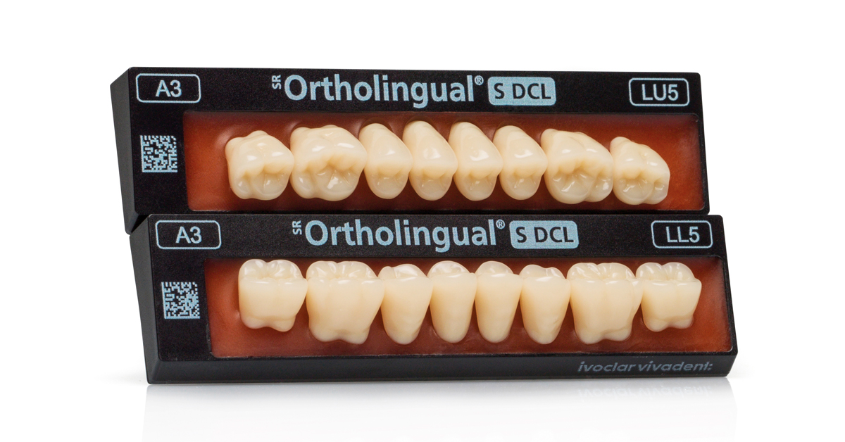 Complete dentures: SR Ortholingual S DCL - new posterior teeth for the lingualized occlusion